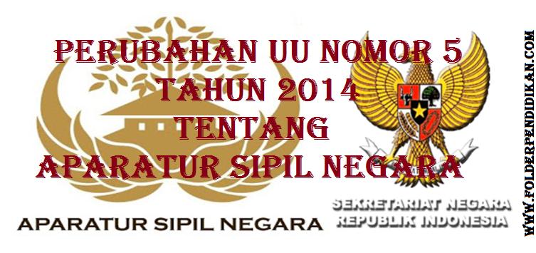 Perubahan UU Nomor 5 Tahun 2014 tentang Aparatur Sipil Negara (ASN) pada Paripurna DPR RI