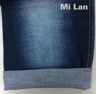 Vải Jean T/R thun nữ xước cộng W72