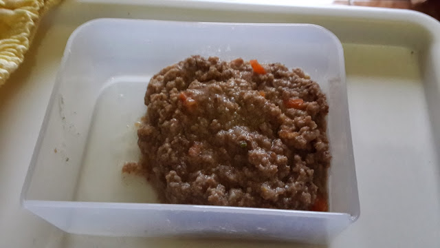 resep menu mpasi untuk bayi usia 7 bulan berbahan Daging halus saring