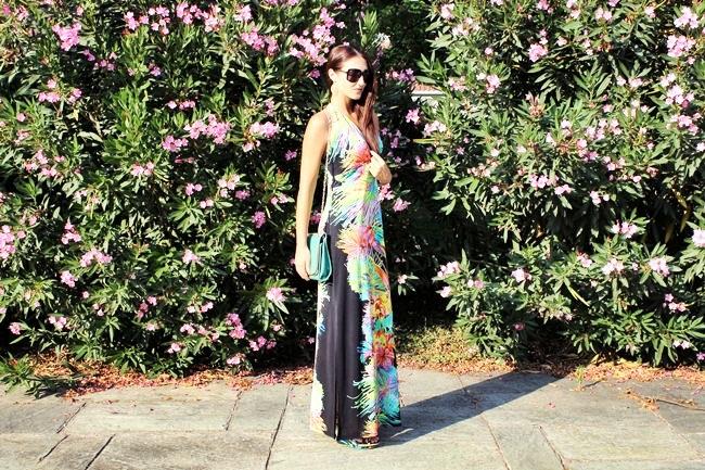 maxi haljina sa tropskim printom