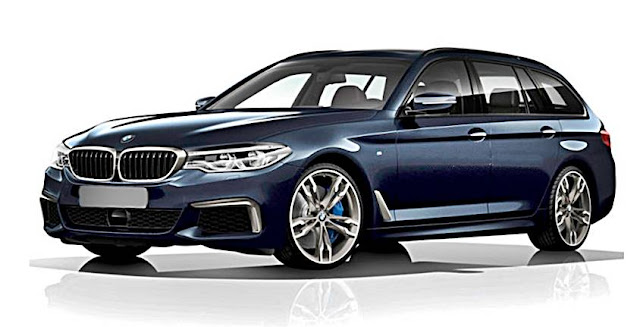 2017 BMW 5 Series G31 Touring Rendered as the M550i xDrive