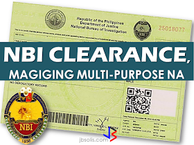 "Speaker Pantaleon Alvarez proposed that the National Bureau of Investigation (NBI) will be soon issuing only one ""multi-purpose clearance"" for all types of requests, following significant reforms.     Alvarez said that Justice Secretary Vitaliano Aguirre II, who has administrative control over the NBI, had issued a directive for the purpose of issuing the new multi-purpose clearance.   The old practice of issuing different clearances for specific purposes, the usual separate applications for domestic employment, travel abroad, gun licensing and many others, will be replaced with a single clearance to be used in all of the transactions requiring the NBI clearance,  making it easier for people to obtain and use it.  The NBI is directed to change the format of all NBI clearances to bear the phrase ""Issued for whatever legal purpose"" instead of an specific purpose.  The NBI is also ordered to replace all existing formats with the new multi-purpose clearance as stated under the new circular.            Last Feb. 15, DOJ Secretary Vitaliano Aguirre issued a Department Circular 017, directing NBI Director Dante Gierran to scrap the present specific-purpose clearance and instead issue a multi-purpose clearance. According to Alvarez, the proposed reform will not only spare the people from difficulties of getting the NBI clearance but it can also save time and money.  Department Circular 017 Issued by the DOJ                The implementation of the new multi-purpose NBI clearance will begin 15 days after appropriate notices have been published in at least two publications or newspapers of general circulation.  Alvarez had also asked the NBI to modernize its system not only to increase efficiency but also to address other problems in the clearance procedures in addition to implementing a multi-purpose clearance. RECOMMENDED:  ASEAN LEADERS TO CREATE PROTECTION RULES FOR MIGRANT WORKERS  OFW GETS HARSH WORDS FROM OWN BROTHER  10 TIPS ON HOW TO SPOT A FAKE NEWS  BEFORE YOU GET MARRIED,BE AWARE OF THIS  ISRAEL TO HIRE HUNDREDS OF FILIPINOS FOR HOTEL JOBS  MALLS WITH OSSCO AND OTHER GOVERNMENT SERVICES  DOMESTIC ABUSE EXPOSED ON SOCIAL MEDIA  HSW IN KUWAIT: NO SALARY FOR 9 YEARS  DEATH COMPENSATION FOR SAUDI EXPATS  ON JAKATIA PAWA'S EXECUTION: ""WE DID EVERYTHING.."" -DFA  BELLO ASSURES DECISION ON MORATORIUM MAY COME OUT ANYTIME SOON  SEN. JOEL VILLANUEVA  SUPPORTS DEPLOYMENT BAN ON HSWS IN KUWAIT  AT LEAST 71 OFWS ON DEATH ROW ABROAD  DEPLOYMENT MORATORIUM, NOW! -OFW GROUPS  BE CAREFUL HOW YOU TREAT YOUR HSWS  PRESIDENT DUTERTE WILL VISIT UAE AND KSA, HERE'S WHY  MANPOWER AGENCIES AND RECRUITMENT COMPANIES TO BE HIT DIRECTLY BY HSW DEPLOYMENT MORATORIUM IN KUWAIT  UAE TO START IMPLEMENTING 5%VAT STARTING 2018  REMEMBER THIS 7 THINGS IF YOU ARE APPLYING FOR HOUSEKEEPING JOB IN JAPAN  KENYA , THE LEAST TOXIC COUNTRY IN THE WORLD; SAUDI ARABIA, MOST TOXIC  ""JUNIOR CITIZEN ""  BILL TO BENEFIT POOR FAMILIES"
