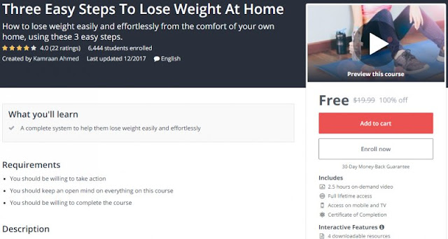 [100% Off] Three Easy Steps To Lose Weight At Home| Worth 19,99$