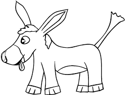 Baby Donkey Coloring Pages For Kids