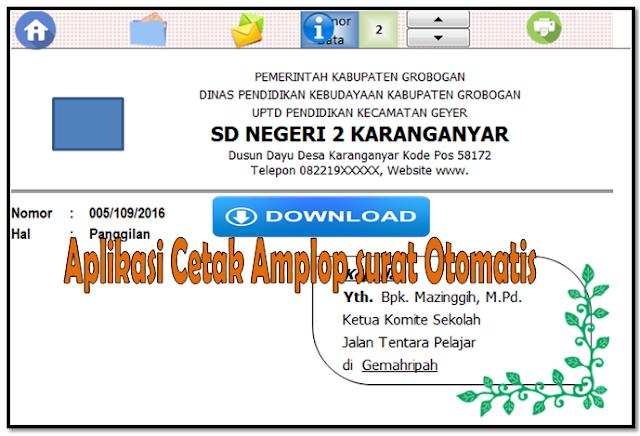 aplikasi excel cetak amplop surat dengan mudah