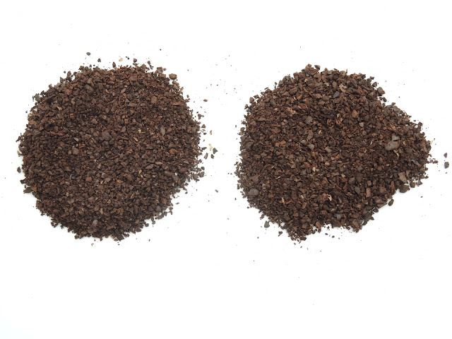 ザッセンハウスの刃とThe Coffee Mill 粗挽き比較.JPG