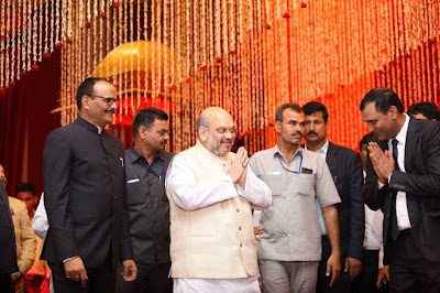BJP President Amit Shah gracing the marriage ceremony of Ishani Sharma