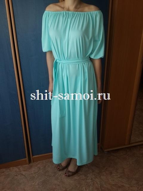 Платье в стиле кармен выкройка