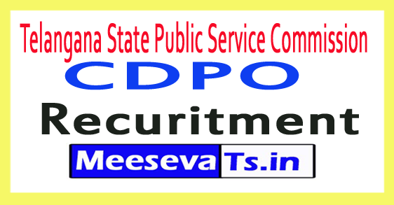 Telangana Child Development Project Officer CDPO Recruitment Notification 2017