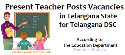 Telangana DSC 2017,TS DSC,Teacher Posts Vacancies in Telangana State