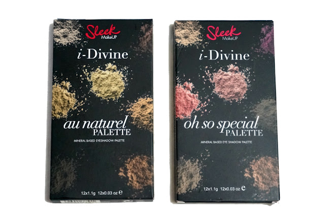 Sleek i-Divine Eye Shadow Palette (L) Au Naturel, (R) Oh So Special