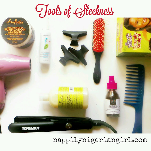 How To Diy Silk Press On Natural Hair Nappilynigeriangirl