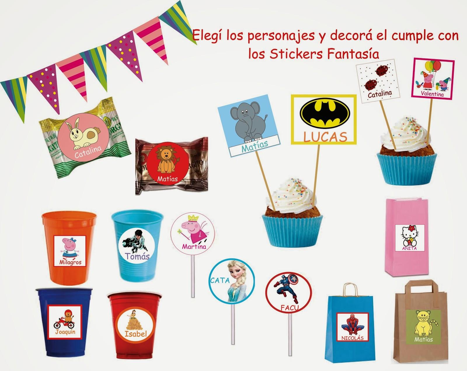 Fantasía en Tranvia: Stickers personalizados para niños