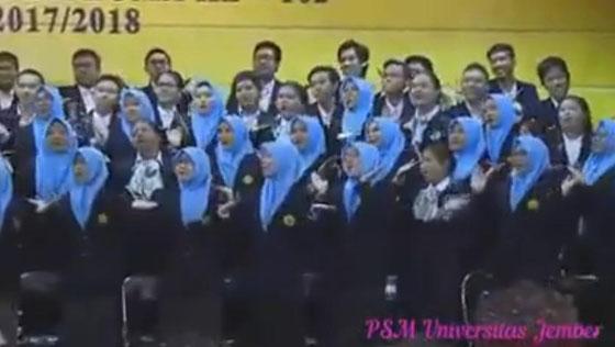 Video: Wisuda Universitas Jember, Paduan Suaranya Nyanyikan Lagu Jaran Goyang Jadi Viral