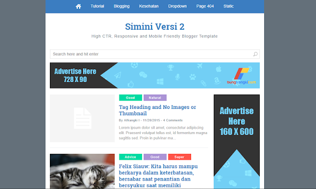 Simini V2 Minimalist Fast Loading Blogger Template