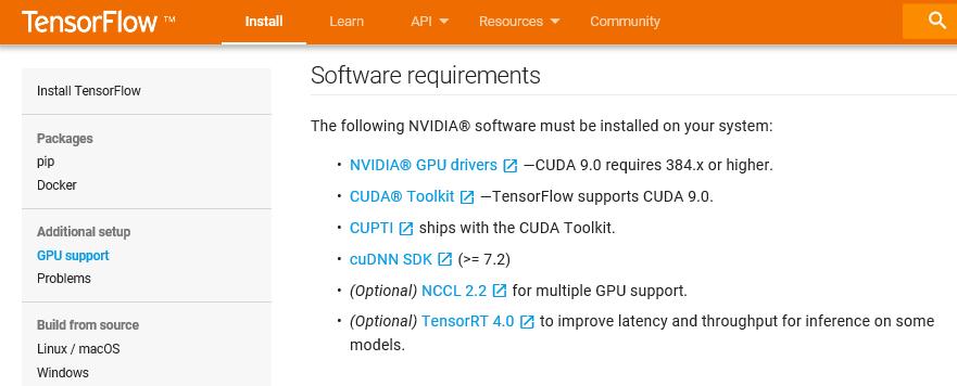 tensorflow gpu install - NVIDIA CUDA 설치하기 - 별별정보