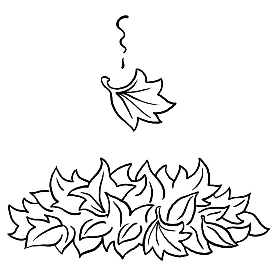 fall leaves coloring pages kindergarten - photo#4