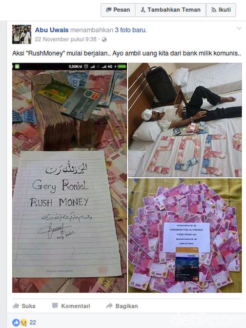 Abdul Rozak, Guru SMK penyebar isu rush money