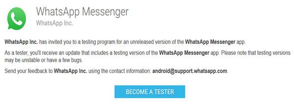 whatsapp beta tester video call