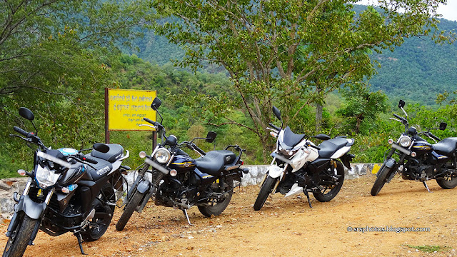 Our Bikes Parked somewhere close by Hogenakkal - SRS Photos