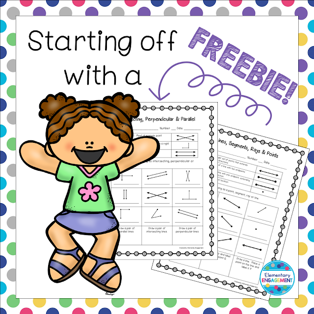 This blog is starting off with some awesome geometry freebies!