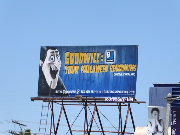 Goodwill Hotel Transylvania 2 Dracula billboard