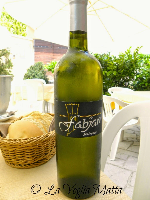 Enoteca di Sgonico sul Carso triestino vino Malvasia di Fabjan