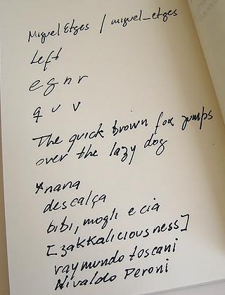 Özensiz bir el yazısı