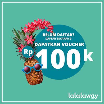 Daftar di situs booking hotel Lalalaway bisa dapat voucher dan promo menarik