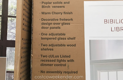 Martin Furniture Glass Door Bookcase: practical and classic