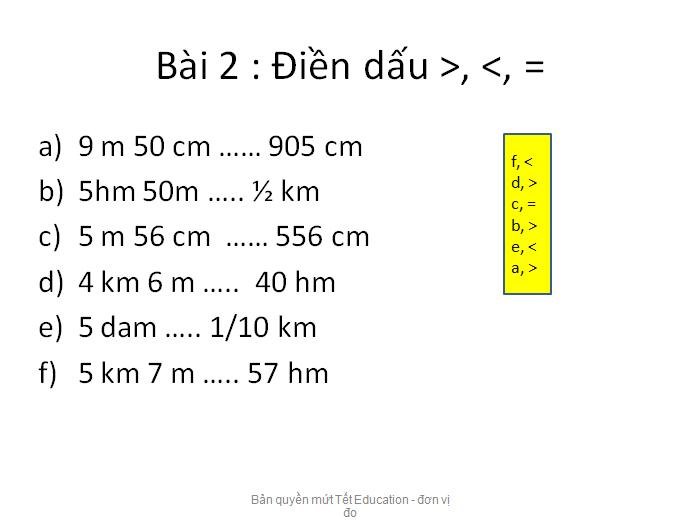Bài tập đổi đơn vị đo độ dài - Toán lớp 5(8)