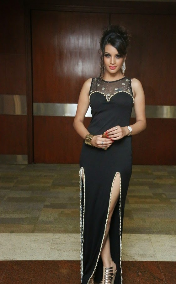 Deeksha Panth in Black Dress New Photoshoot Stills