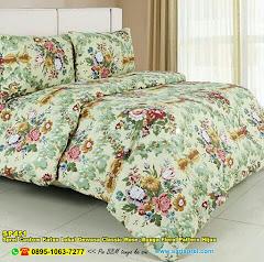 Sprei Custom Katun Lokal Dewasa Classic Rose  Bunga Floral Pattern Hijau