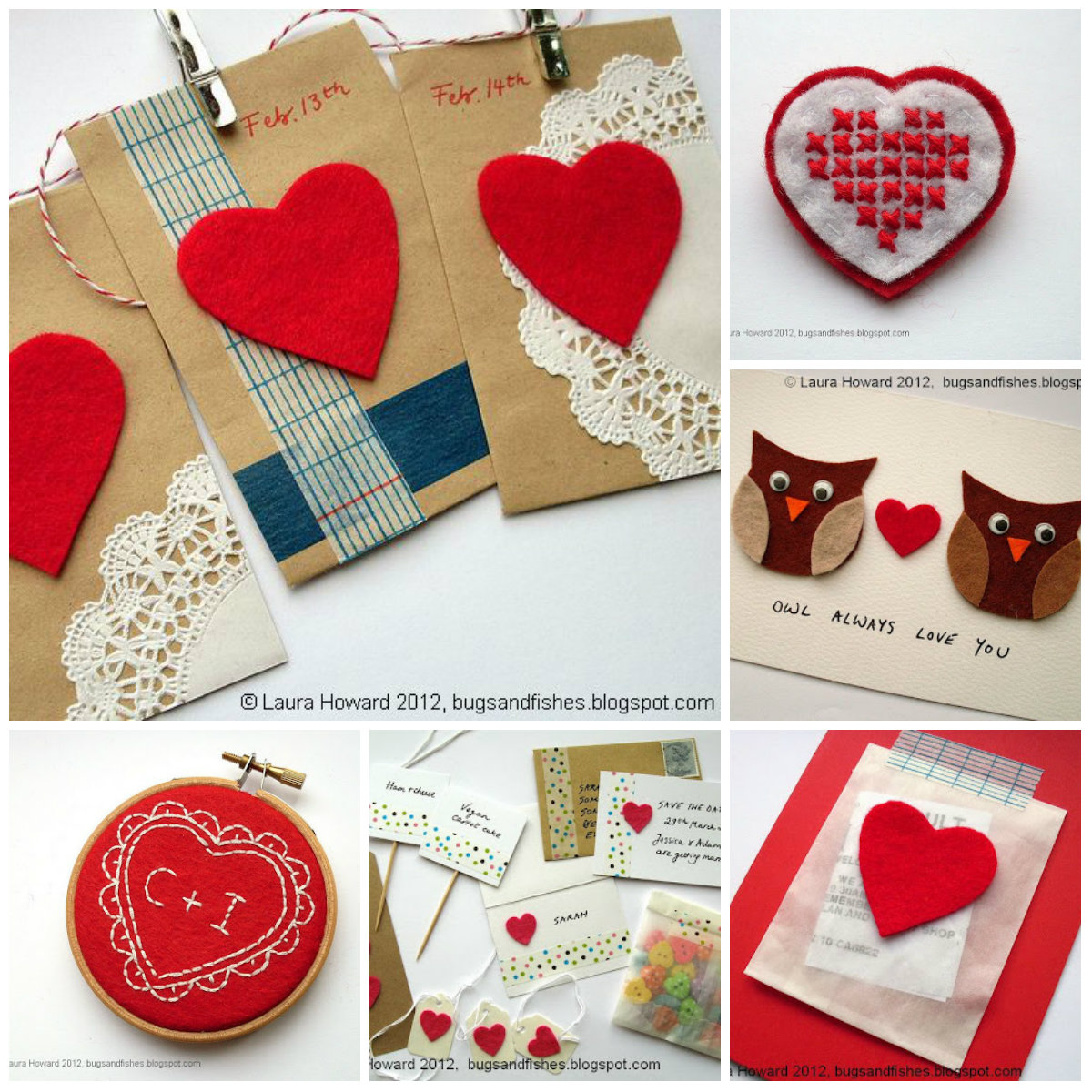 Bugs And Fishes By Lupin: Craft Ideas For Valentine's Day