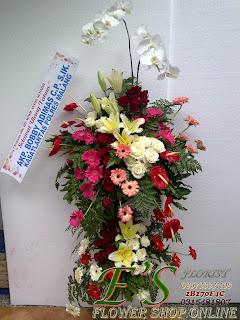 standing flower anggrek bulan selamat ulang tahun