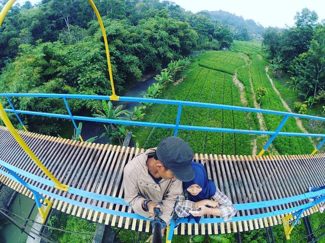 Info Lokasi Wisata Jembatan Talang Biru Di Desa Pajarisuk Pringsewu