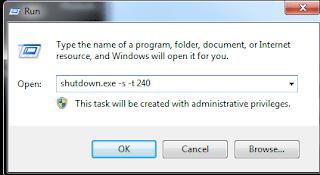 shutdown timer windows 10