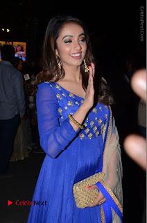 Telugu Actress Tejaswi Madivada Pos in Blue Long Dress at Nanna Nenu Na Boyfriends Audio Launch  0091.JPG