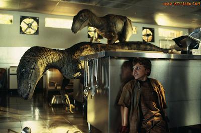 Cena da cozinha Jurassic Park