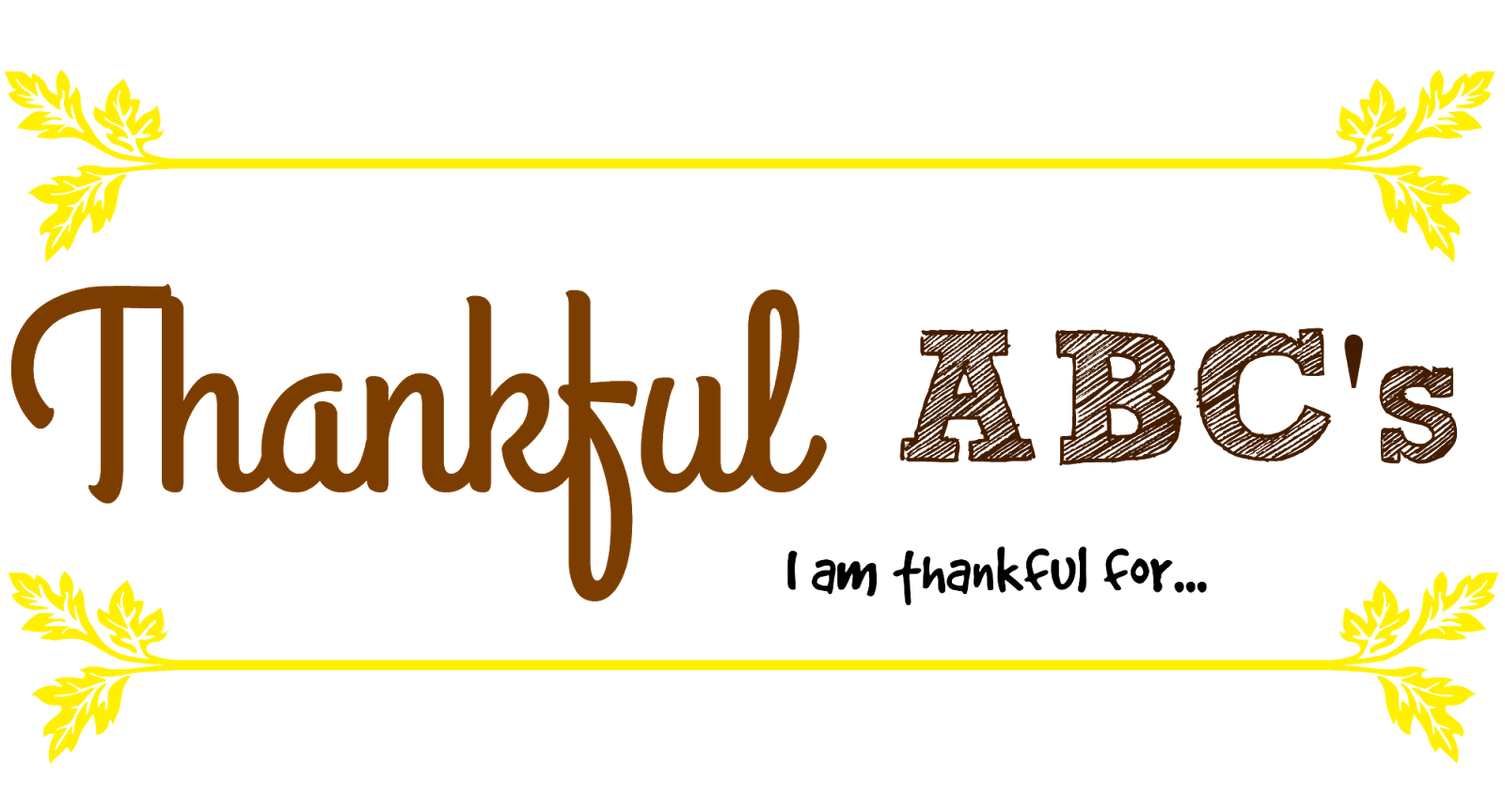 Thankful Abc S