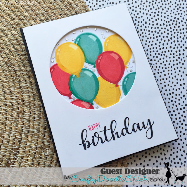 Sunny Studio Stamps: Birthday Balloon Customer Card by Milene Tiberius