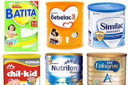 Daftar Harga Susu Formula Terbaik Untuk Bayi Terbaru 2019