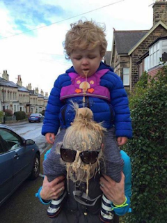 toddler vomits onto mothers head funny