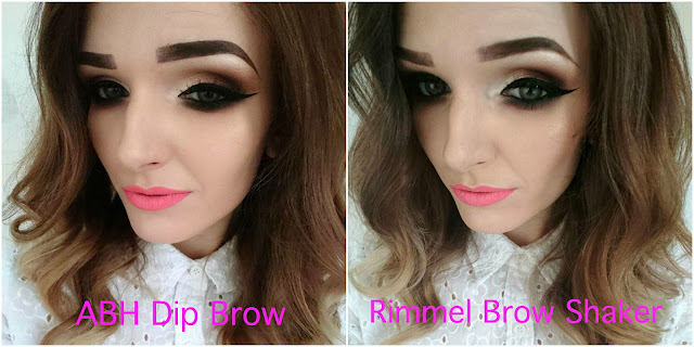 Rimmel Brow This Way Brow Shake Filling Powder V's ABH Dip Brow Pomade