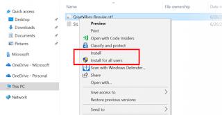 Cara menginstal & mengubah Font hanya untuk diri Anda sendiri di Windows 10