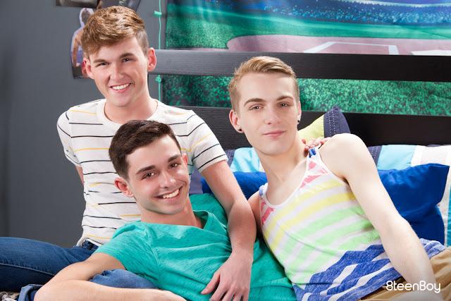 8Teenboy - Tickle Threeway  Grayson Lange, Hunter Graham, Drew Baker