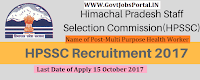 Himachal Pradesh SSC Recruitment 2017– 2965 Multi Purpose Health Worker, Radiographer