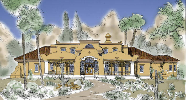 Luxury homes period design classical plans and interiors for Contemporary southwest home designs