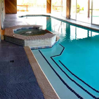 indoor pool surround Greatmats rubber foam blend