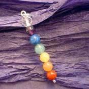 colgantes, chakras, colores, espiritualidad, bisutería, mágico